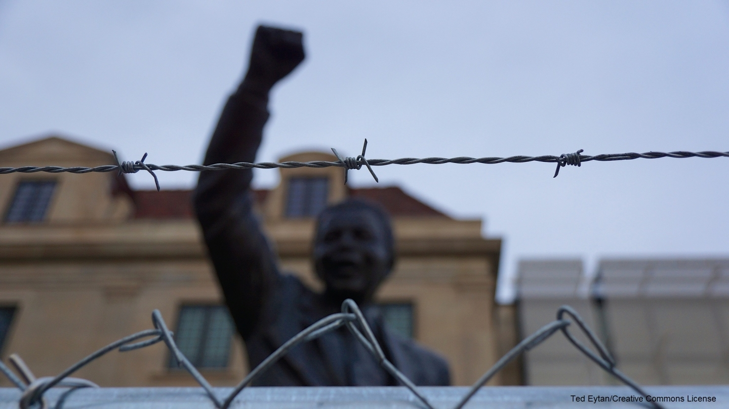 Nelson Mandela Statue, in front of the South African Embassy, in Washington, D.C. (Ted Eytan/Creative Commons License)