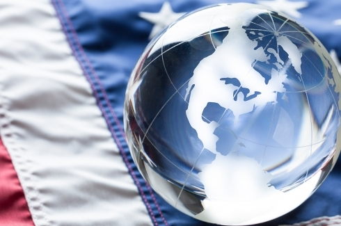 American Flag and Globe of USA - iStock image by -Oxford-