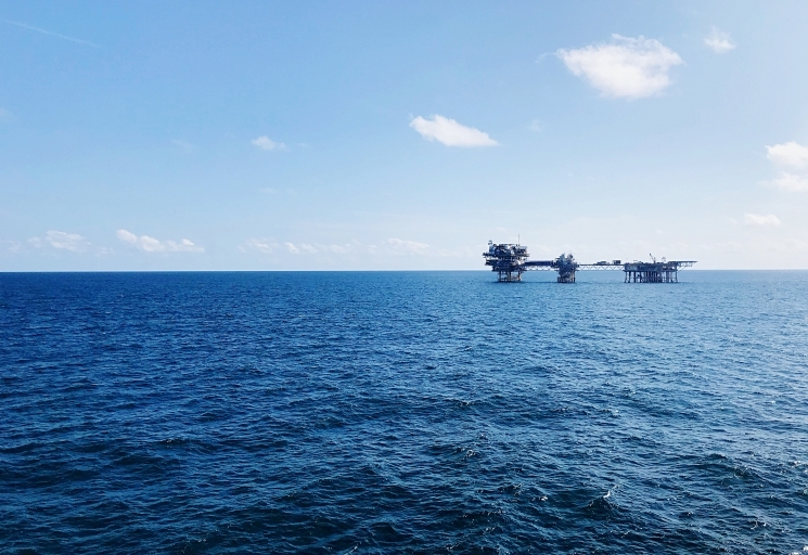 Wellhead Platform in the middle of the sea