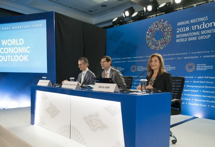 World Economic Outlook Press Conference. IMF Staff Photograph/Stephen Jaffe