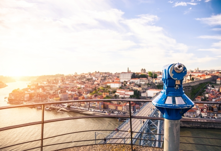 View of Porto, Portugal.