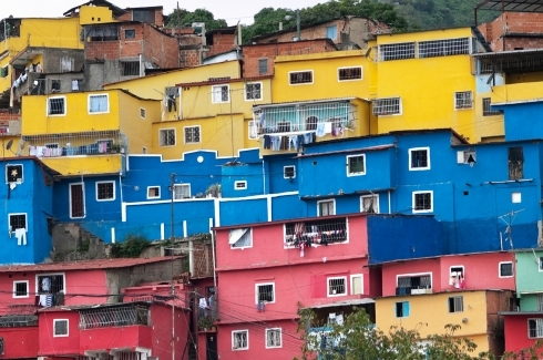 Favela suburb of Caracas city