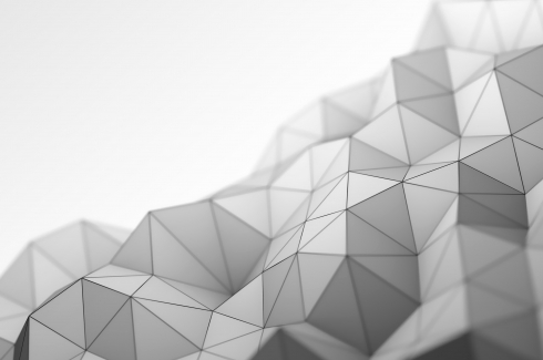 Abtract black and white triangle background stock photo
