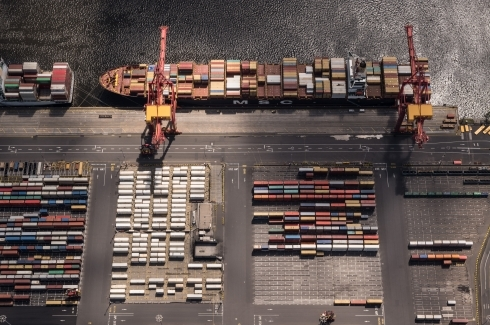 Aerial of a Port