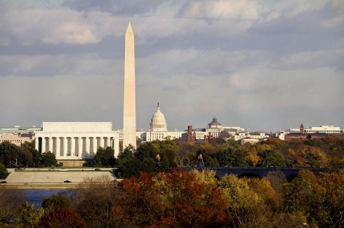 Lincoln Memorial, Washington Monument and Capitol