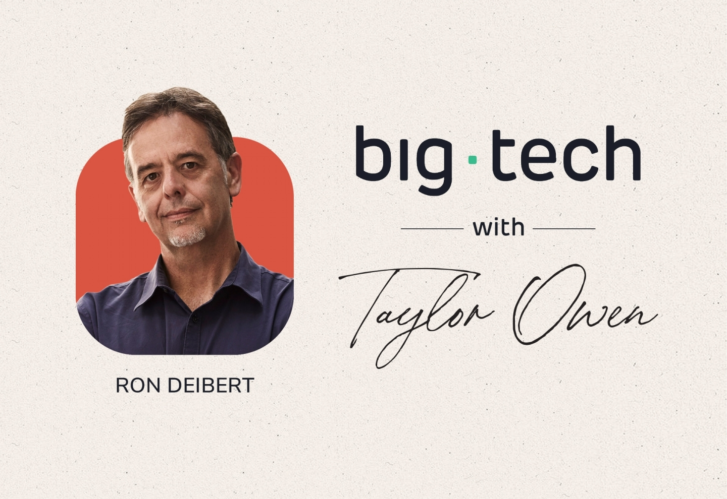 Ron Deibert on Resetting Our Relationship with Technology