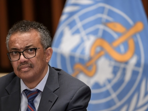 "World Health Organization Director-General Dr. Tedros Adhanom Ghebreyesus warned of an ""infodemic"" in February 2020. (Fabrice Coffrini/REUTERS)"