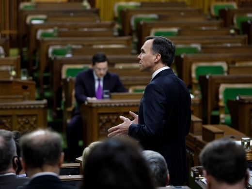 Minister of Finance Bill Morneau in the House of Commons on March 19, 2019. (PMO Photo/Adam Scotti)