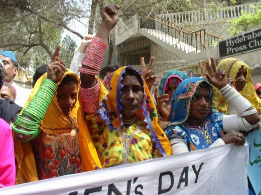(AP Photo) Pakistan villagers demanding women's empowerment ahead of the International Women Day