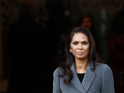 Gina Miller, who won a High Court ruling on Brexit, arrives at the Supreme Court for the appeal (AP Photo/Kirsty Wigglesworth)