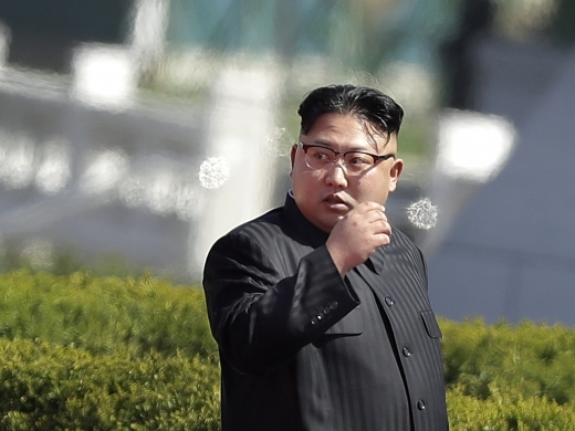 North Korean leader Kim Jong Un. (AP Photo/Wong Maye-E)