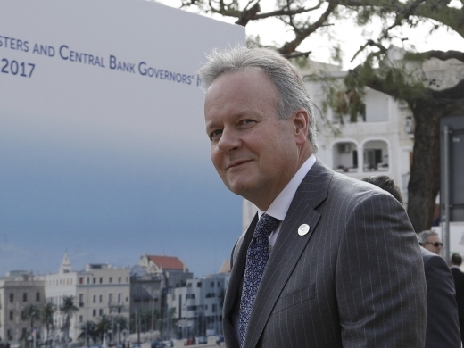 Bank of Canada Governor Stephen Poloz in Itay for G7 (AP Photo/Andrew Medichini)
