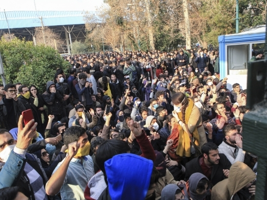 A wave of spontaneous protests over Iran's weak economy swept into Tehran on December 30, 2017. (AP Photo)