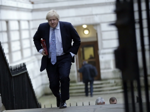 Britain's Foreign Secretary Boris Johnson. (AP Photo/Alastair Grant)