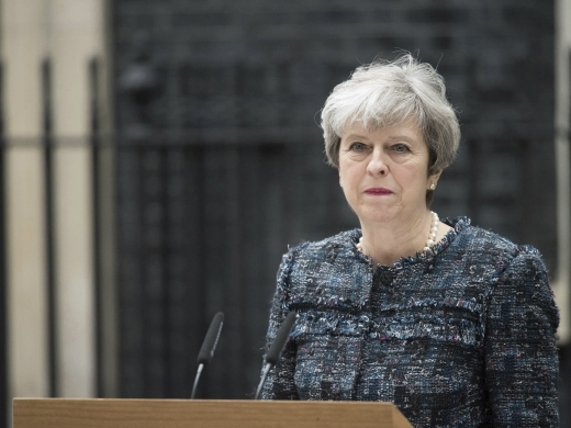 British Prime Minister Theresa May announced her resignation on May 24, 2019. (AP Photo)