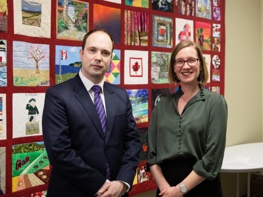 Aaron Shull, Managing Director, CIGI alongside The Honourable Karina Gould, Minister of International Development, Government of Canada