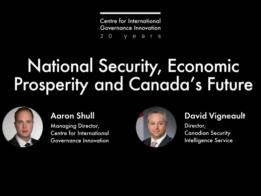 National Security, Economic Prosperity and Canada's Future