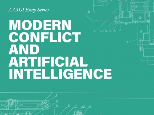 Modern Conflict and Artificial Intelligence series' cover graphic design