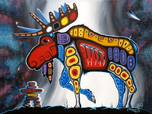 Spirit Moose by Dwayne Wabegijig