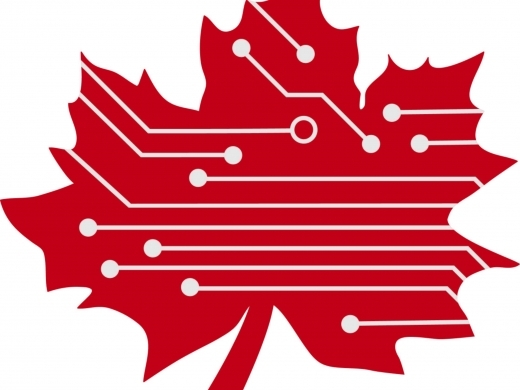 digital red maple leaf