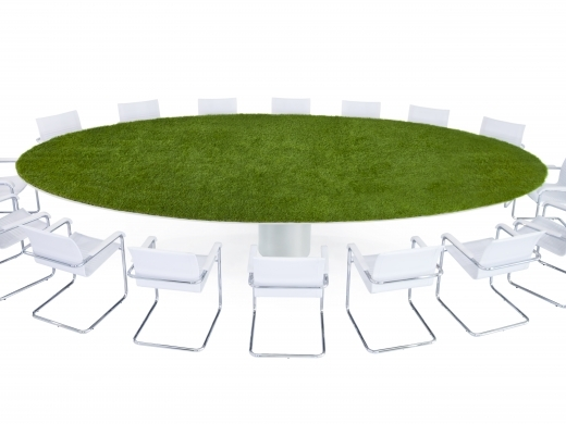 Green conference table