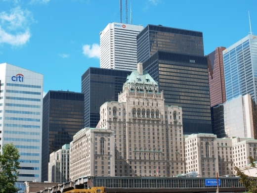 Royal York Hotel with financial buildings in background