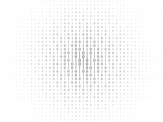 binary code black and white