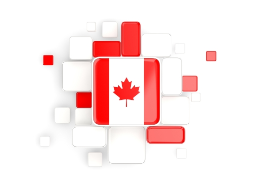Flag of Canada, mosaic background