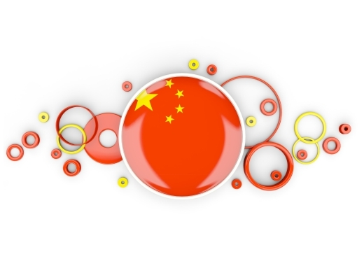 Round flag of china with circles pattern