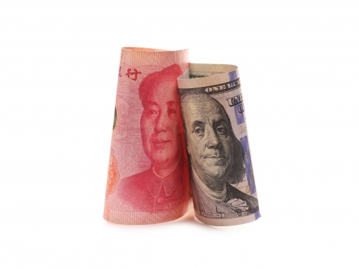 Renminbi and US-dollar bills