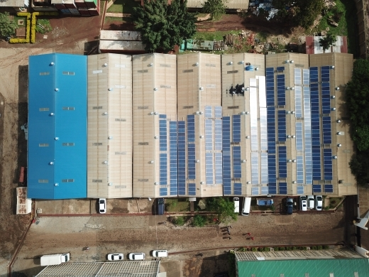 A roof-mounted solar power plant in Kenya (Shutterstock)