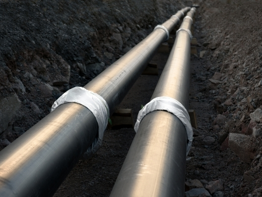 Pipelines being built