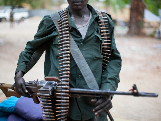 South Sudanese soldier