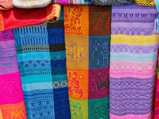 Mayan crafts on display in Yucatan, Mexico