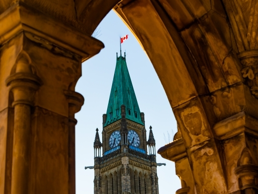 The Peace Tower at Canadian Parliament. (Shutterstock)