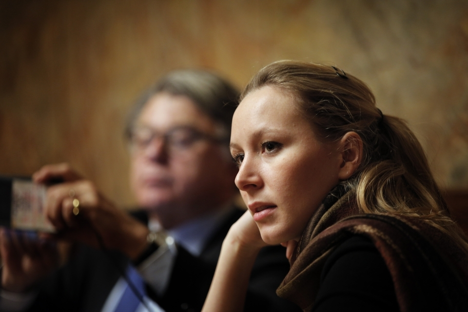 Front National MP Marion Maréchal-Le Pen, niece of the presidential candidate, and a rising star in the party (AP Photo/Christophe Ena)