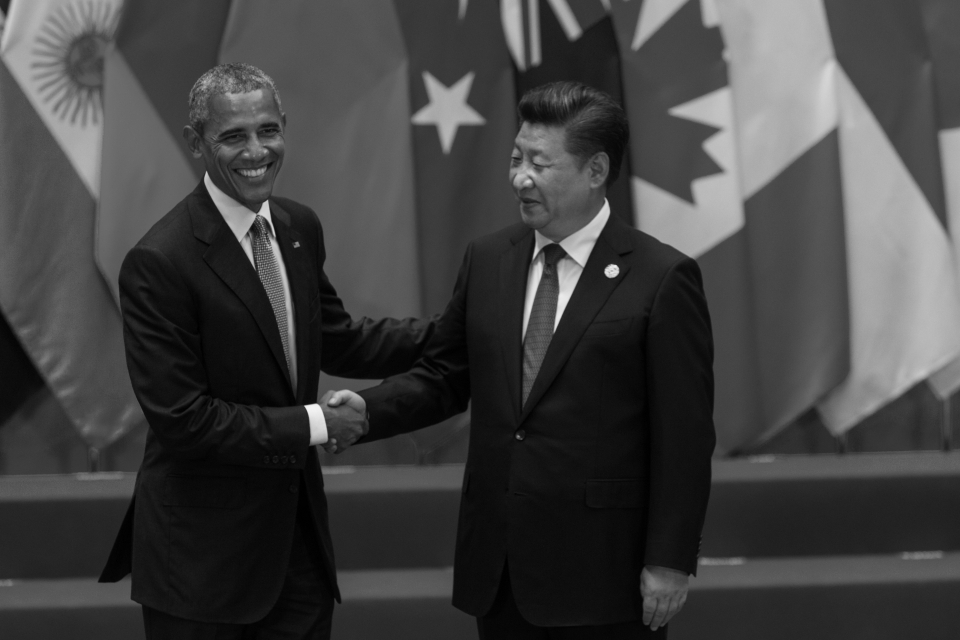 Chinese President Xi Jinping greets former US President Barack Obama at the Hangzhou summit in 2016, where leaders incorporated innovation-related spending as a priority. (Photo: plavevski / Shutterstock.com)