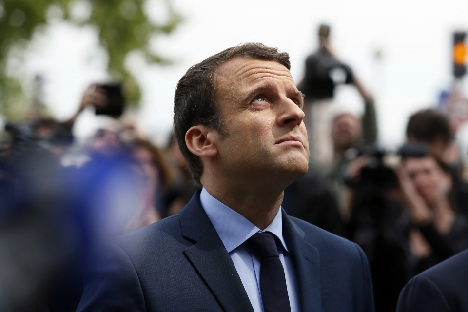 French President Emmanuel Macron. (AP Photo/Francois Mori)