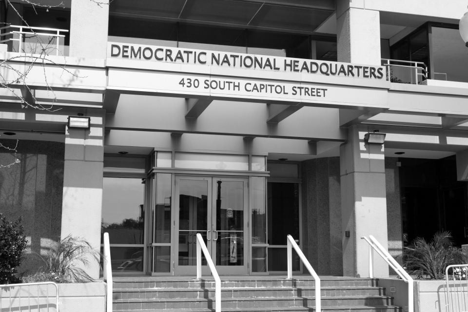 In the United States, the hack of the Democratic National Committee in the lead up to the 2016 presidential election had negative consequences for American democracy. (Photo: Mark Van Scyoc / Shutterstock.com)