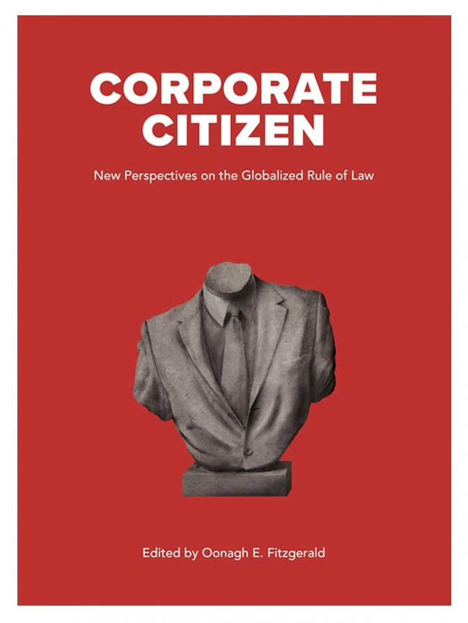 Corporate Citizen cover, bust of businessman
