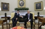 USA President Donald J Trump welcomes Canadian Prime Minister Justin Trudeau in the Oval Office