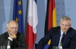 German Finance Minister Wolfgang Schaeuble and Economy Minister of France Bruno Le Maire. (AP Photo/Michael Sohn)