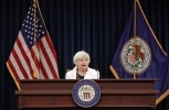 Federal Reserve Chair Janet Yellen speaks at a news conference following the Federal Open Market Committee meeting in Washington. (AP Photo/Pablo Martinez Monsivais)