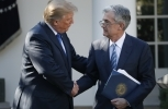 President Donald Trump shakes hands with Federal Reserve board member Jerome Powell after announcing him as his nominee for the next chair of the Federal Reserve, Thursday, Nov. 2, 2017. (AP Photo/Alex Brandon)