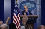 Senior White House economic adviser Larry Kudlow calls on a reporter during a briefing at the White House on  June 6, 2018. (AP Photo/Susan Walsh)