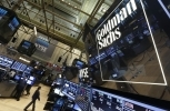 A sign marks the Goldman Sachs trading post on the floor of the New York Stock Exchange. (AP Photo/Richard Drew, File)