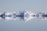 A floe of ice floating by on the Arctic Ocean near Pond Inlet (iStock)