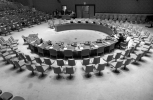 Overhead shot of the United Nations Security Council