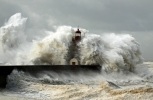 lighthouse during hurricane