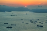Naval ships in the South China Sea